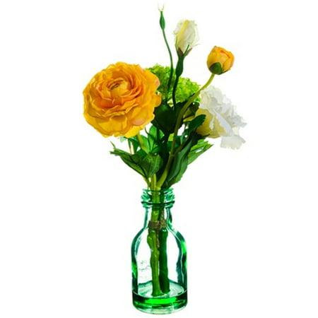 135 Artificial Mixed Spring Flower Arrangement In Transparent