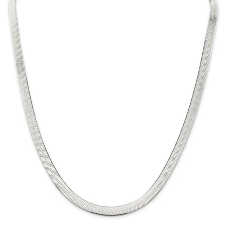 Sterling Silver 7mm Magic Herringbone Chain Necklace or Bracelet