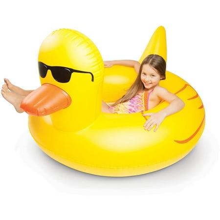 Bigmouth Inc Giant Rubber Duckie Pool Float Walmart Com