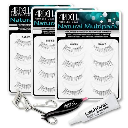 12119e68828 Ardell Fake Eyelashes Babies Value Pack - Natural Multipack Babies (Black,  3-Pack