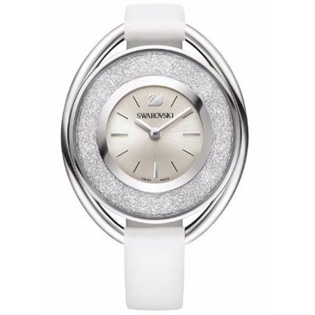 Swarovski White Leather - Swarovski Crystalline Oval White Ladies Watch 5158548