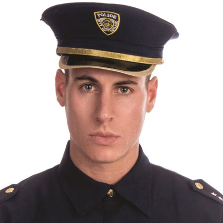 Dress Up America H226-A Adult Police Hat Costume Accessory - One Size Fits All