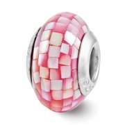 Sterling Silver Reflections Pink Mother of Pearl Mosaic Bead