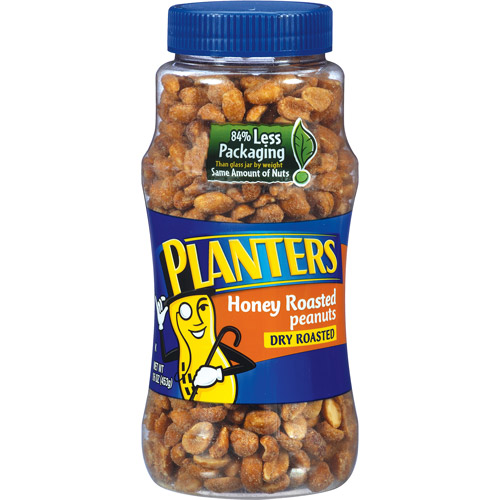 Planters: Dry Roasted Honey Roasted Peanuts, 16 Oz