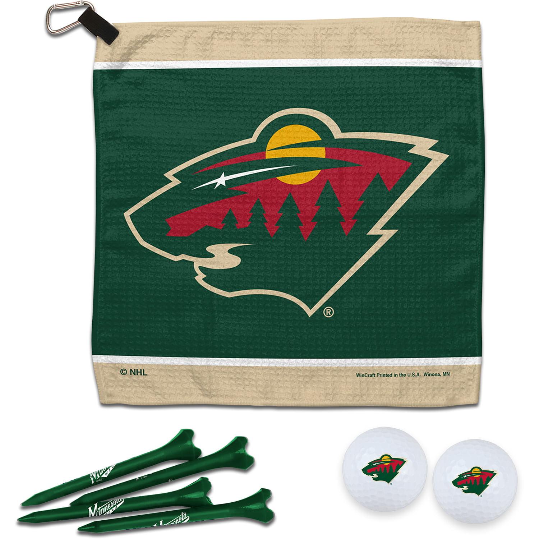 Minnesota Wild WinCraft Towel, Golf Balls & Tees Gift Set - No Size