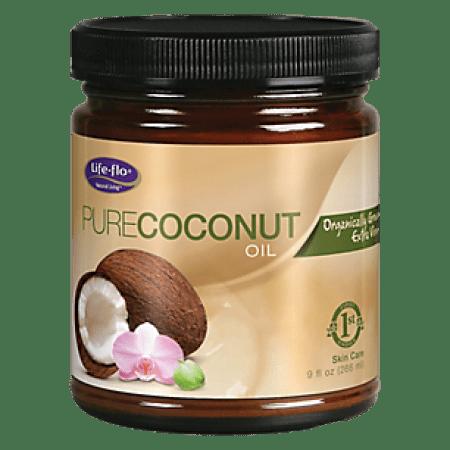 Life-Flo Health Organic Pure Coconut Oil Skin Care, 9 Oz