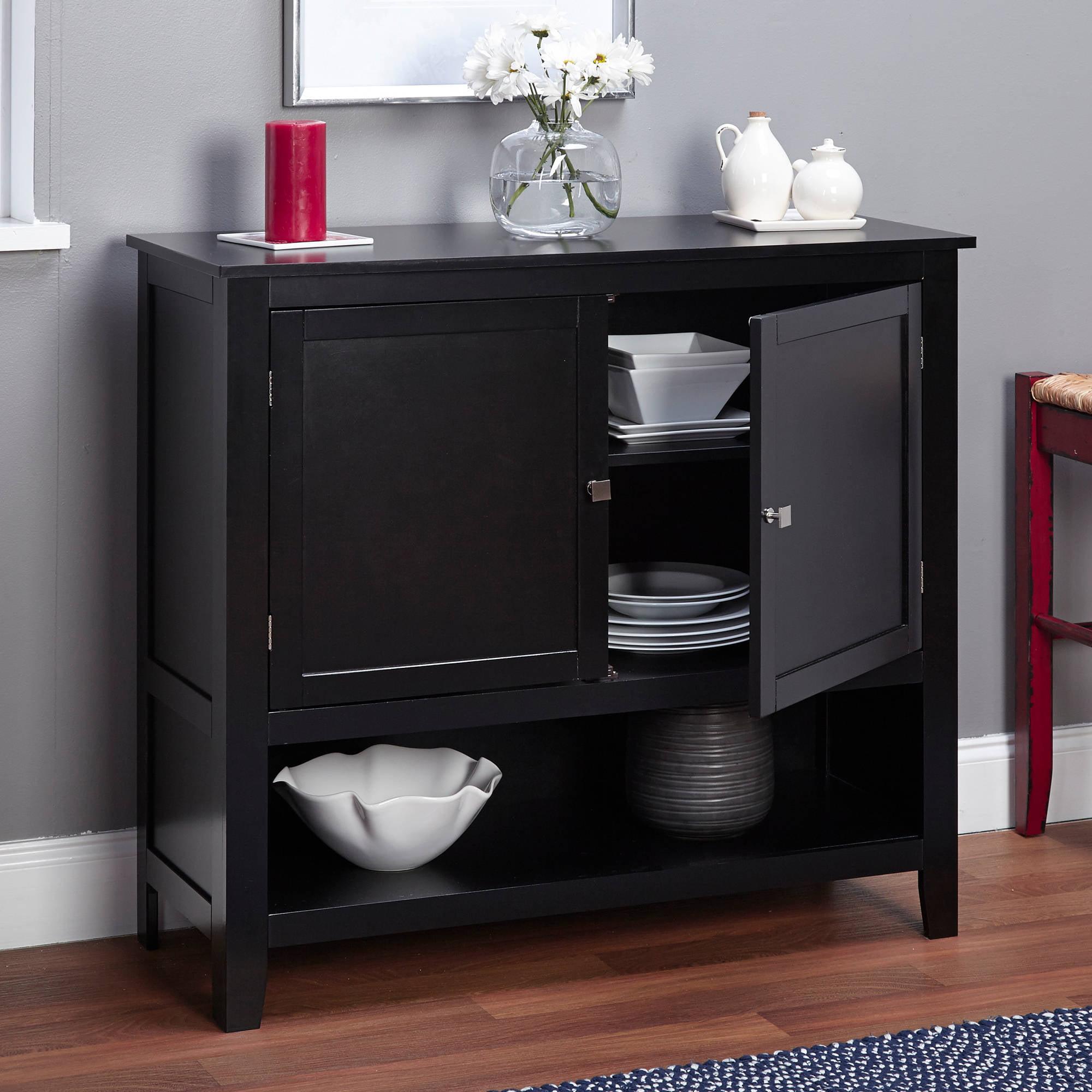 Cabinet Kitchen Buffet Storage Adjustable Shelves Wooden Red Finish  Furniture 24319110007 | EBay