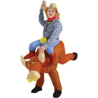 Bull Rider Kids Inflatable Boys Child Halloween Costume, One Size