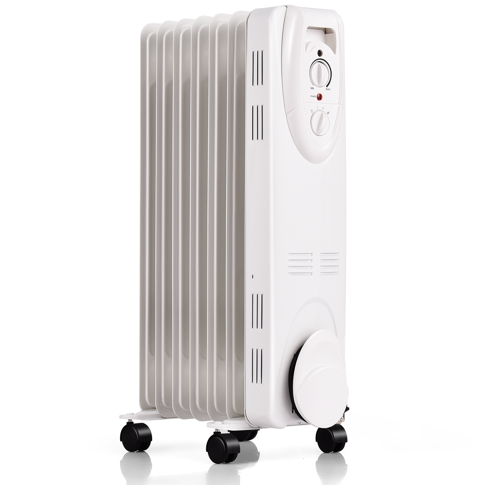 Portable Electric Oil Space Heater for Indoor Use 3 Heat Modes with Thermostat Energy Saving Super Quiet Remote Control 12H Timer LED Display for Bedroom Home Office Use LIFEPLUS Oil Filled Radiator Heater 1500W Sleek Black