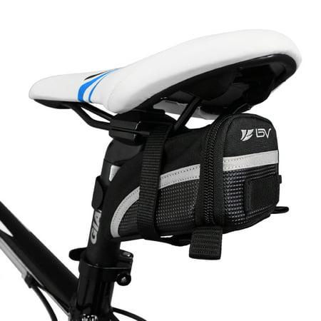 BV Bicycle Strap-On Saddle Bag / Seat Bag - Small (Computer Saddle Bag)