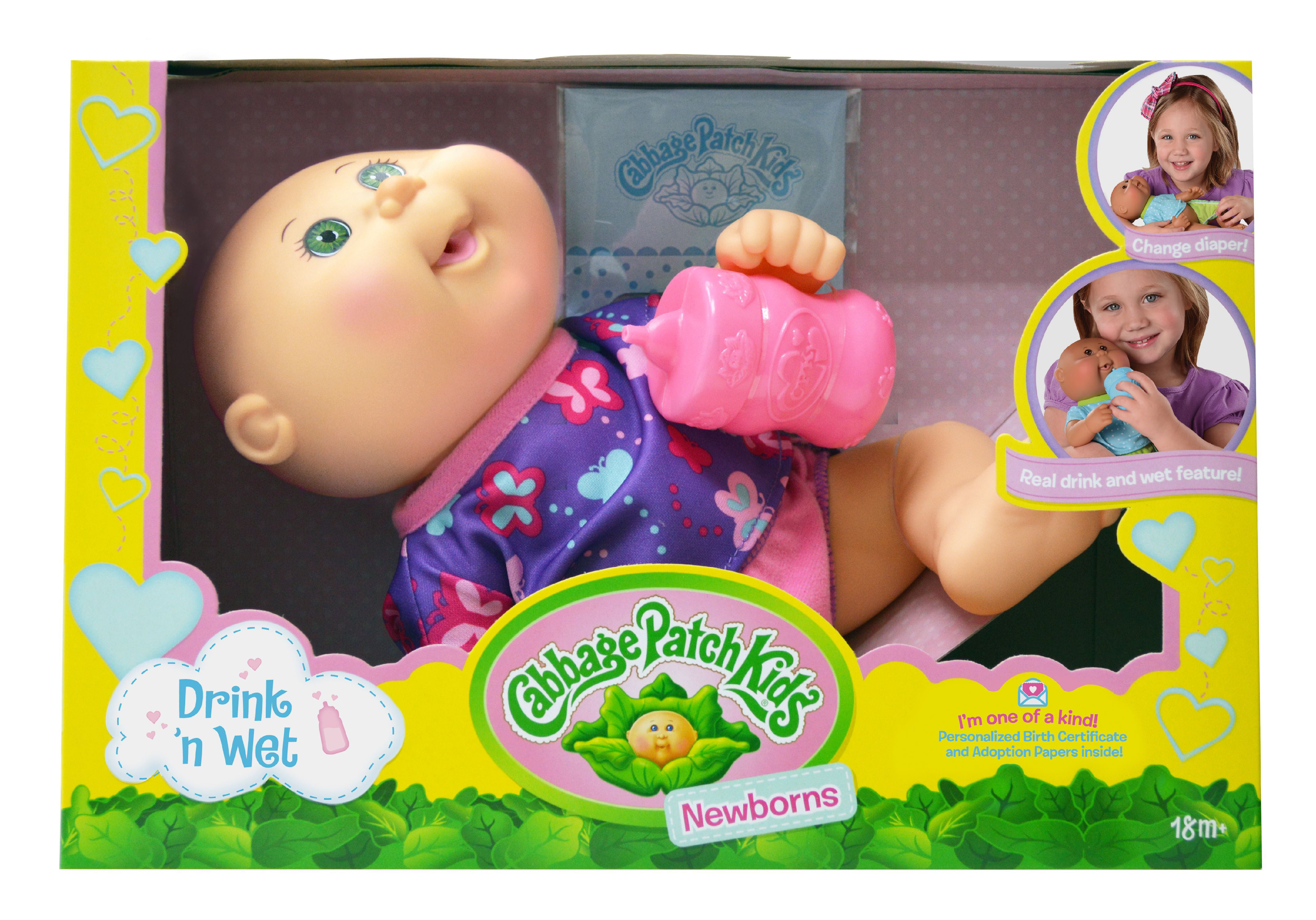 Cabbage Patch Kids Drink N' Wet Newborn Doll by WICKED COOL TOYS, LLC