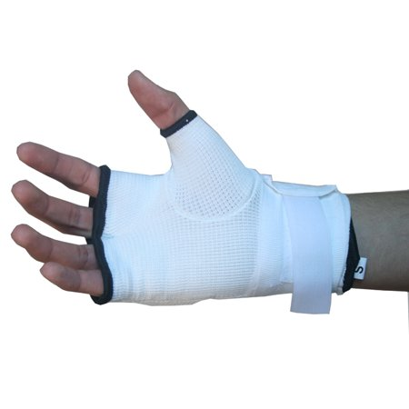 Last Punch Training Gloves MMA White Wrist Strap Good Quality All Sizes S to