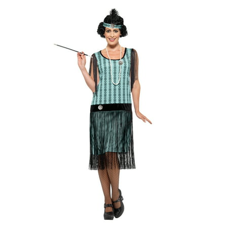 Women's 1920s Mint Coco Flapper Costume - 1920s Couple
