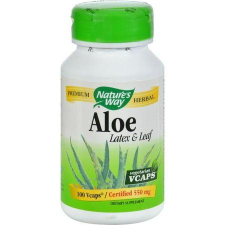 Nature's Way Aloe - Latex With Fennel - 100 Vegetarian Capsules](Latex Aloha)