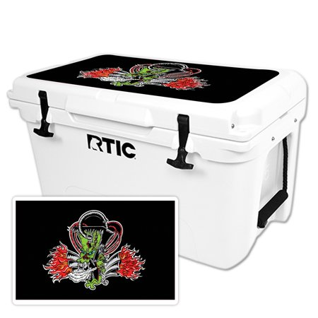 MightySkins Protective Vinyl Skin Decal Wrap for RTIC 20 qt Cooler (2016) cover sticker Bio Glow](Styrofoam Cooler Target)