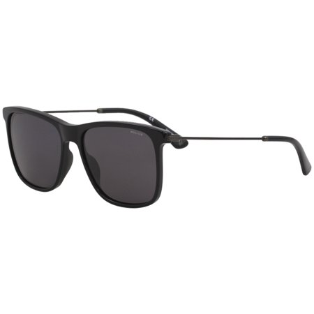 Police Men's SPL572N SPL/572/N 0700 Black Fashion Square Sunglasses (Police Sunglasses)