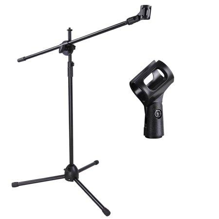 Adjustable Microphone Stand Boom Arm Mic Mount Quarter-turn Clutch Tripod Holder Audio Vocal Stage