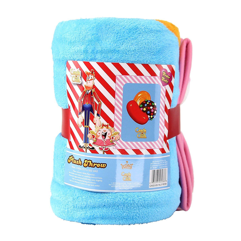 Candy Crush Kids Sherpa Throw Blanket, 46x60-Inch