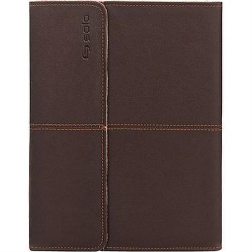 Refurbished Solo Premium Leather Momentum Case for iPad , Espresso, VTA222-3