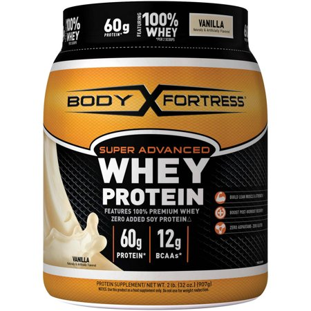 Body Fortress Super Advanced de protéines de lactosérum en poudre, vanille, 2 lbs