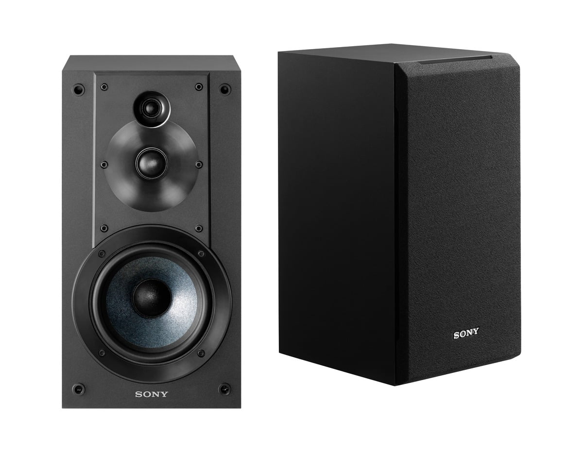 Sony SS-CS5 Stereo Bookshelf Speakers, Black (Pair)