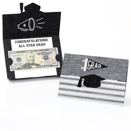 All Star Grad - Graduation Party Money Holder Cards - Set of 8 (Graduation Name Cards)
