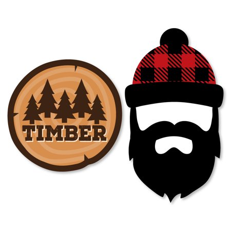 Lumberjack Party (Lumberjack - Channel The Flannel - Shaped Buffalo Plaid Party Cut-Outs - 24)