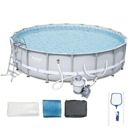 Bestway power steel frame pool set 18 39 x 52 - Bestway power steel frame pool ...