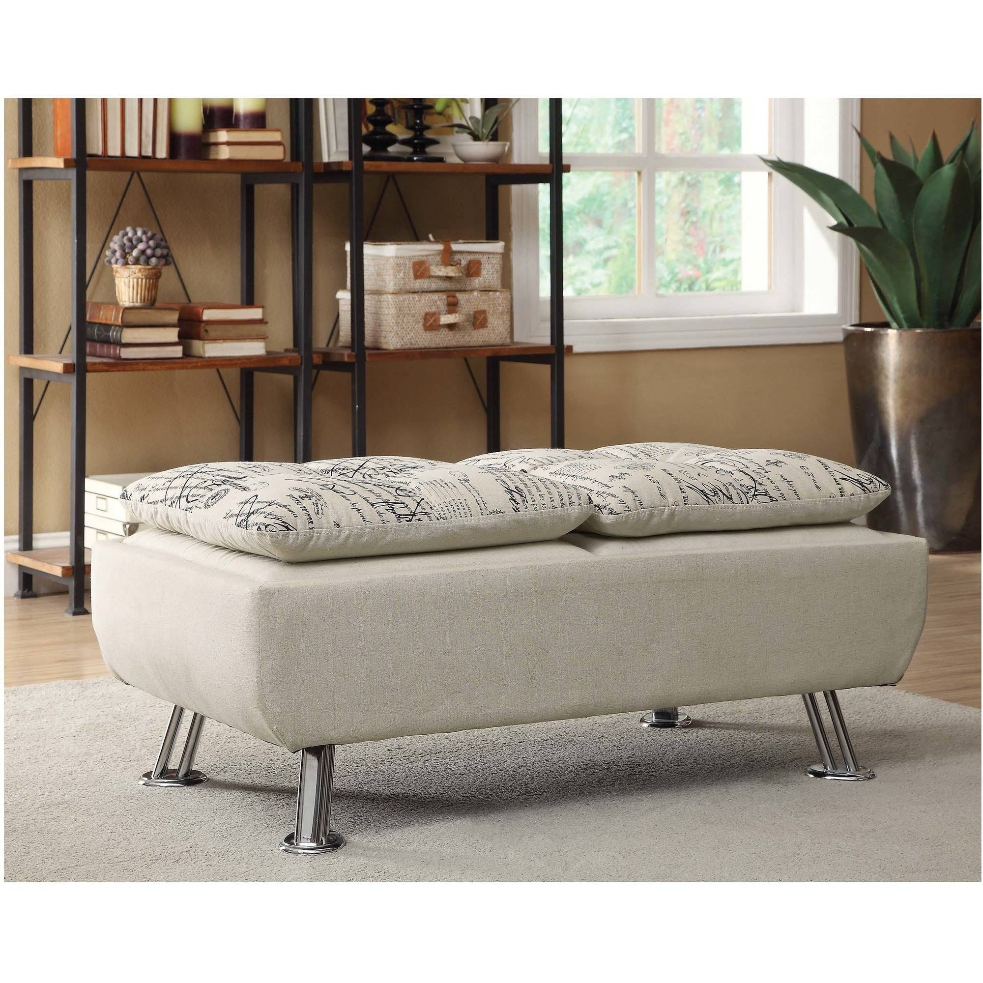 Coaster Furniture Olson Fabric Ottoman in Beige