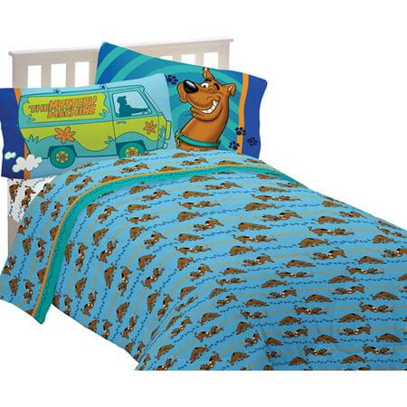 scooby doo microfiber sheet set blue - Scoobydoo Bedding