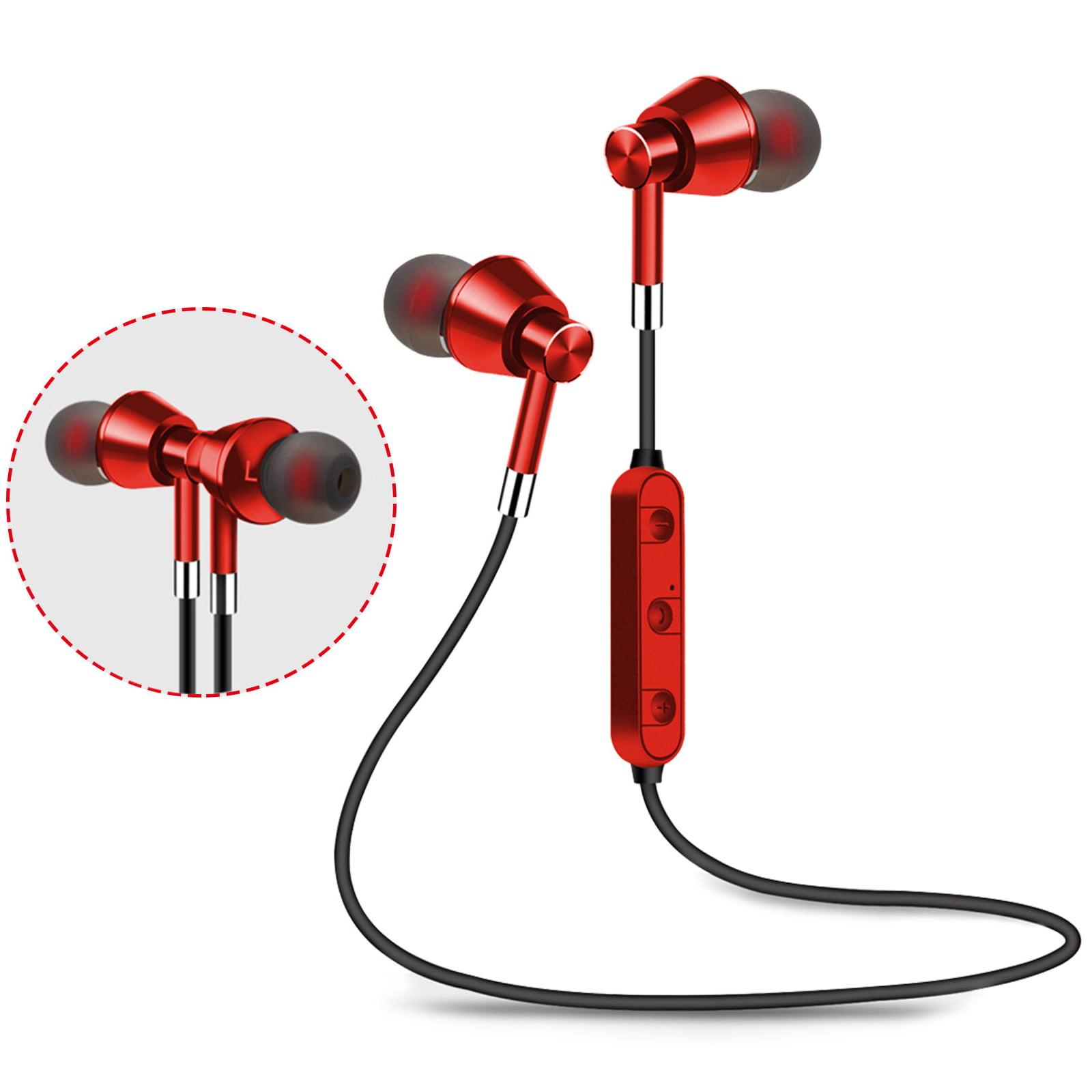EEEKit Wireless Bluetooth Magnetic Earphones, Sweatproof Sport Earbuds with Data Cable, Waterproof Lightweight Gym Headset with Built-in Mic