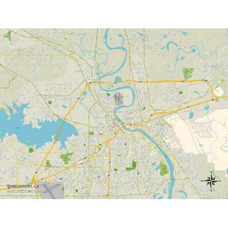 Shreveport La Casinos (Political Map of Shreveport, LA Print Wall)