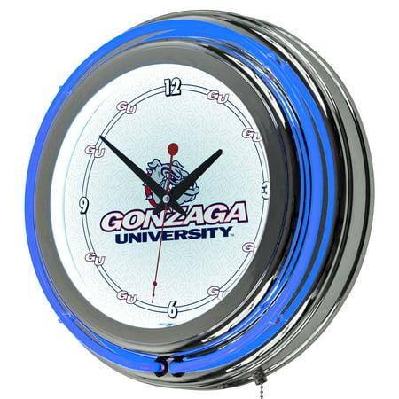 Gonzaga University 14  Neon Wall Clock