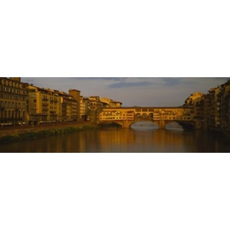 - Bridge across a river Ponte Vecchio Arno River Florence Tuscany Italy Poster Print