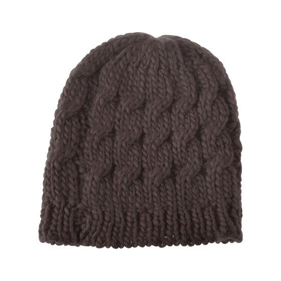 acd182bb543 Zodaca - Beanie Hat for Women by Zodaca Winter Warm Crochet Hat Braided Cap  - Brown - Walmart.com