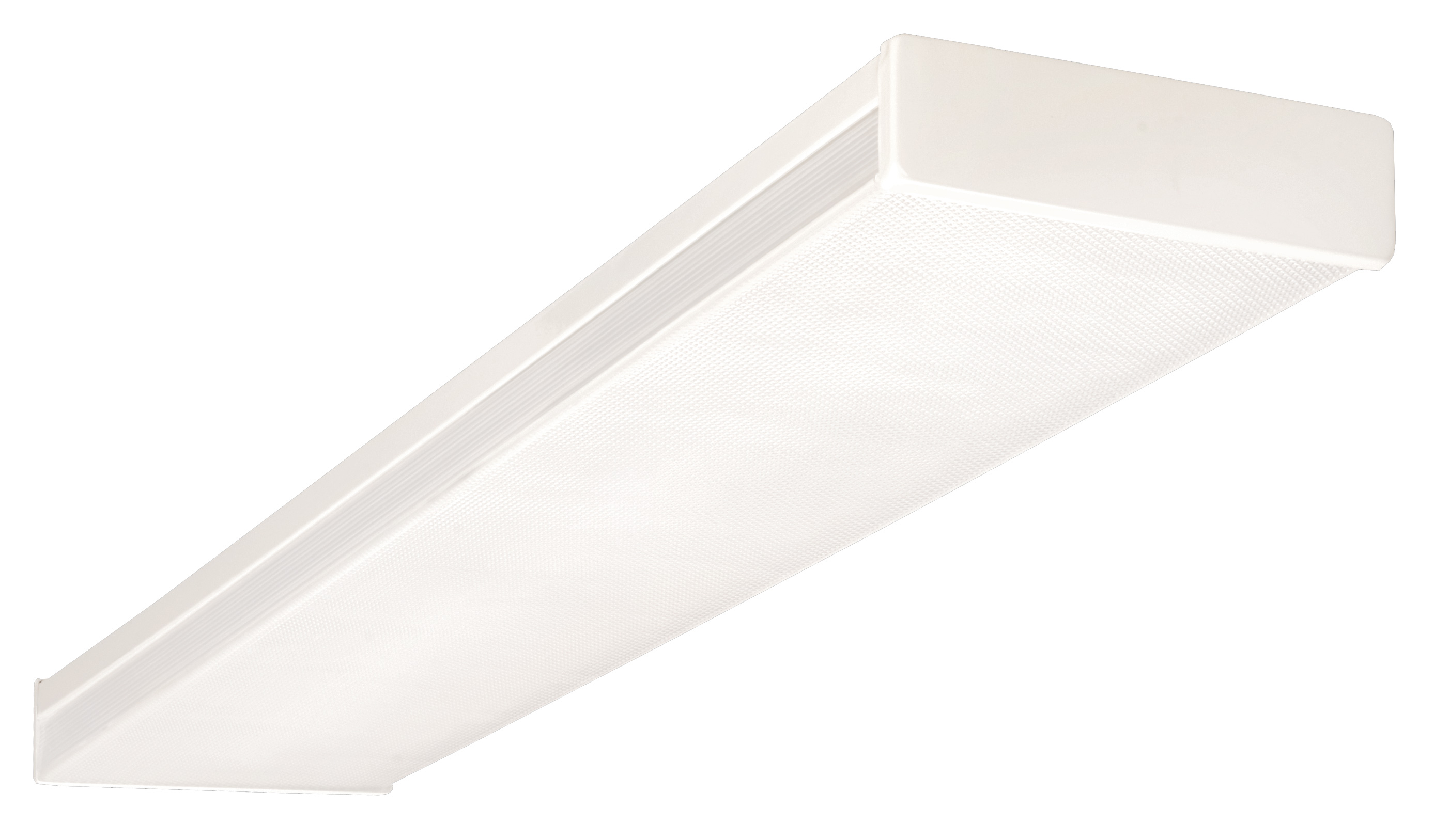 NICOR Lighting 4 Ft. Standard Dual Lamp 32W T8 Fluorescent Wraparound  Ceiling Fixture With