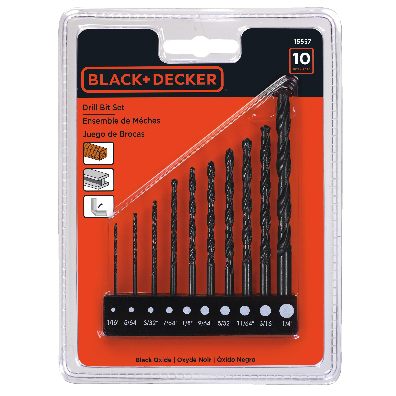 Black & Decker 15557 10pc Drill Bit Set by Stanley Black & Decker