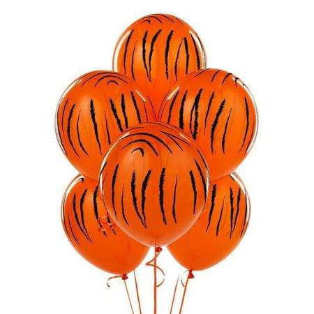 JUNGLE TIGER STRIPES LATEX BALLOONS](Jungle Balloons)