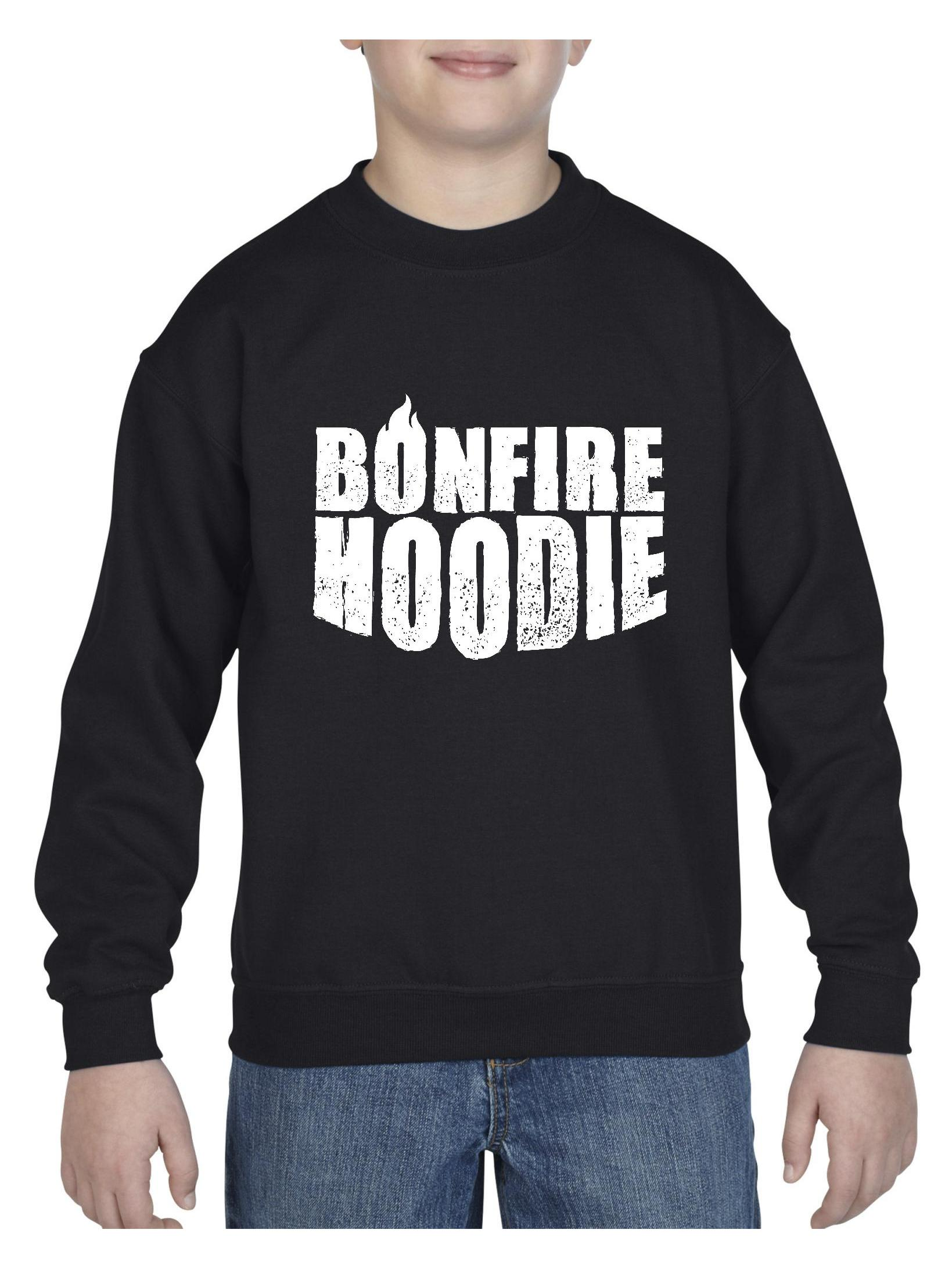 Bonfire Hoodie for Camping Youth Crewneck Sweatshirt