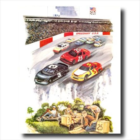 Speedway Nascar Picture - Nascar Speedway Race Track Car Wall Picture Art Print
