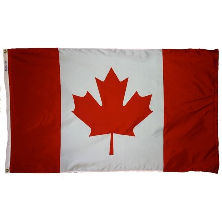 Canada Flag 4x6 ft. Nylon Official United Nations Design - Canada Nylon