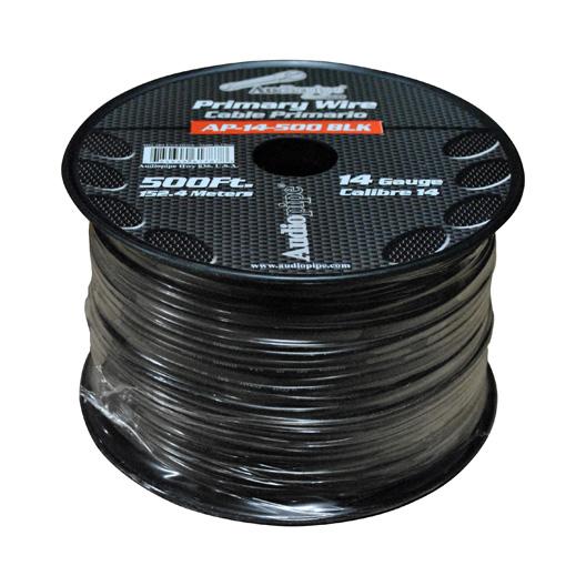 Audiopipe 14 Gauge 500Ft Primary Wire Black