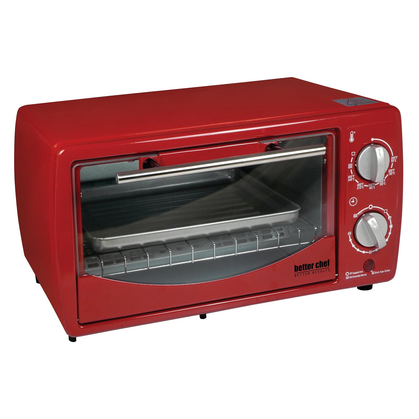 Better Chef 9 Liter Toaster Oven Broiler-White