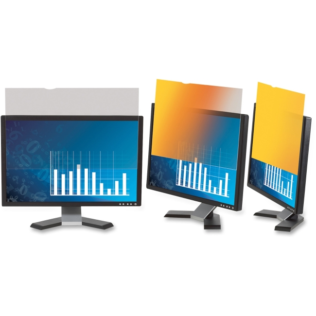 """3M GPF19.0W Gold Privacy Filter for Widescreen Desktop LCD Monitor 19.0"""" - For 19""""Monitor"""