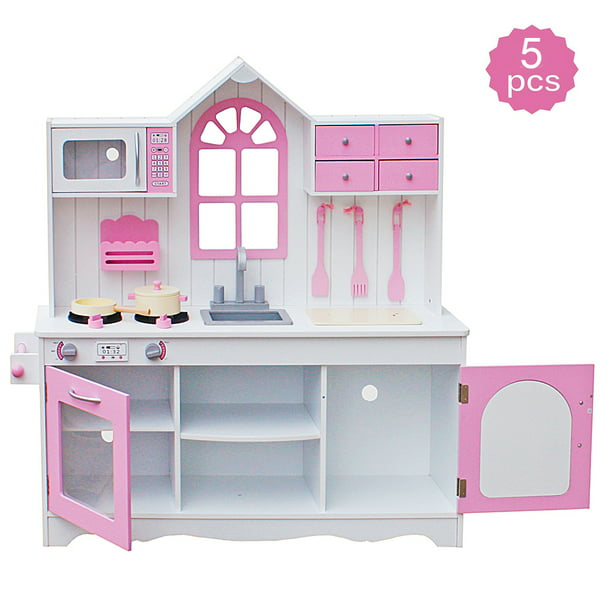 Kids Wood Kitchen Toy Cooking Pretend