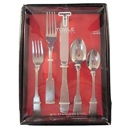 Towle Hammersmith 18/10 Stainless Steel 45 Piece Flatware Set (Service for Eight)