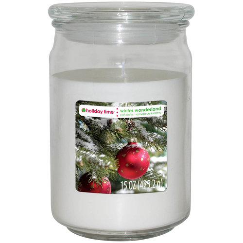 Holiday Time 15-oz Jar Candle, Winter Wonderland