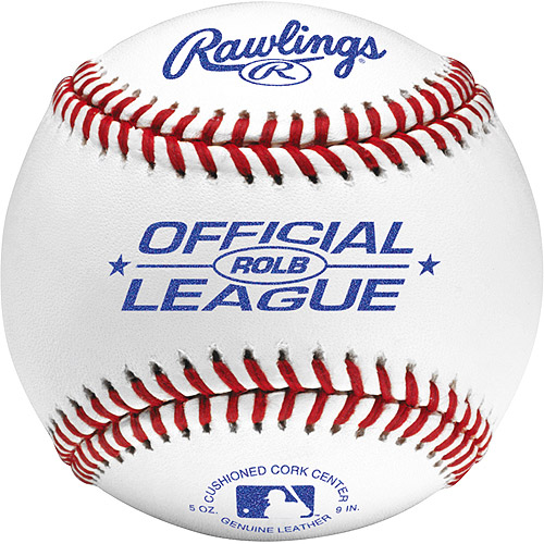 Rawlings ROLB Official Leather Practice Baseballs - One Dozen