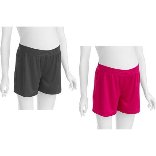 Danskin Now Maternity Mesh Shorts, 2-Pack