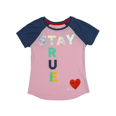 Stay True Foil Graphic Tee (Little Girls & Big -